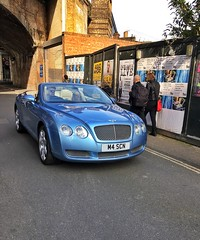 The first warm day of Spring yesterday and the supercars were out in London 💙 (juliavhill) Tags: highendcar luxurycar car convertible cabriolet bluecar bluebentley bentley supercar