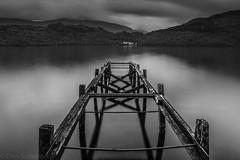 Loch Lomond Pier (chrissyboys) Tags: bw water scotland pier loch lochlomond tarbet inveruglas