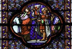 St Louis on Pilgrimage (Lawrence OP) Tags: france church saint louis king stainedglass lille bishop pilgrim sacredheart
