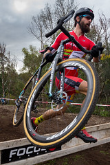 Running or Riding (*ScottyO*) Tags: sports bike bicycle sport race cycling cyclists jump jumping focus action south bikes australia running cx riding cycle adelaide barrier sa racers kask cyclocross lycra hurdle zipp mulchhill
