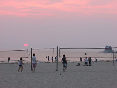 Volleyball game (creed_400) Tags: park sunset sky sun lake haven west beach water clouds sand state dusk michigan shoreline grand lakeshore