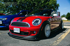 F56 light on R56 (jeepkid703) Tags: lights 1 head wheels running mini s led cooper lip daytime kit avid f56 coupe lowered slammed stance 2014 drl r58