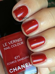 Chanel Ecorce Sanguine (purple yellow) Tags: nail polish chanel sanguine ecorce 671