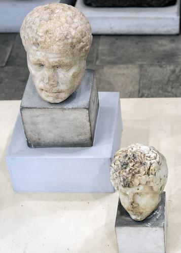 Roman marble heads