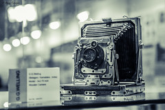 The Vintage Wooden Camera (Anuj Kanojia..) Tags: camera bw canon vintage blackwhite wooden bokeh antique delhi sigma exhibition