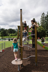 Moffat-15083099 (Lee, Shirley, Luke and Rachel) Tags: playground swings swanboat moffat boatinglake childrenplaying rowingboat stationpark leelive ourdreamphotography