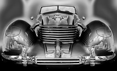 Silver Machine (Tau Zero) Tags: cord 1930s grille solarization sabattier digitalmirror