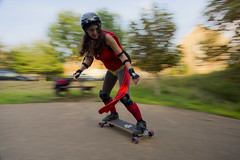Wonder Woman (cango_uk) Tags: skateboarding downhill wonderwoman stokepark freebord freeboarding soniahutchinson