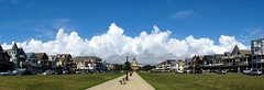 Ocean Pathway Mall, Ocean Grove, NJ (markchevy) Tags: morning panorama storm building architecture clouds landscape religious photo newjersey interesting pix graphic nj picture scene architectural vista boardwalk pictorial oceangrove greatauditorium sx130 oceanpathway markchevy johnspilatro