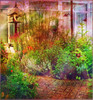 Therapy Garden (virtually_supine) Tags: flowers birds photomanipulation garden creative butterflies textures restore layers birdtable colourful digitalartwork oxforduk picasa3 photoshopelements9 picasaeffectorton kreativepeoplecontest42inthegarden
