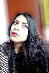 Ade Cancino - Hair Style (adecancino) Tags: red black make up pose hair eyes goth style lips piercing