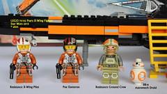 Star Wars LEGO 75102 Poe's X-Wing Fighter (KatanaZ) Tags: starwars lego minifigs minifigures theforceawakens poedameron bb8astromechdroid poesxwingfighter lego75102 resistancegroundcrew resistancexwingpilot