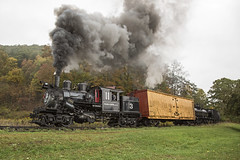2015-10-03 1056 First Run By, Old House, Moore- Keppel No. 3, Durbin, WV (jimkleeman) Tags: dgv climax climax3