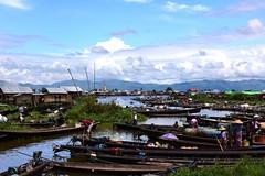 Nampan floating market, Inle lake, Myanmar  D810 1187 (tango-) Tags: burma myanmar birman birmania     mercatogalleggiantelagoinle inlelakefloatingmarket