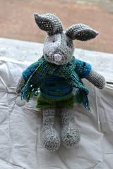 knitted rabbit (Pumora) Tags: baby rabbit toy knitting knitted littlecottonrabbits