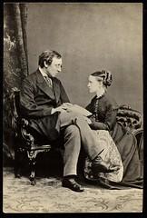 Millicent Garrett Fawcett with Henry Fawcett, c. 1880.