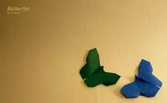 Butterflys (Laangen) Tags: butterfly paper origami akira papier schmetterling yoshizawa