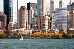 15-8036 (George Hamlin) Tags: new city west building fall water sailboat river photography photo george waterfront manhattan side foliage hudson lower decor hamlin
