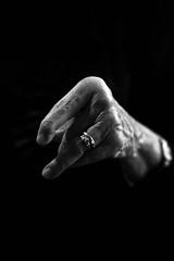 Artrite (lenehuse) Tags: blackandwhite dark hand fingers ring rings human arthritis