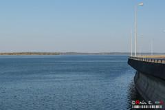 Embalse de Almendra (PeRRo_RoJo) Tags: espaa water landscape agua aqua dam sony paisaje es presa embalse castillaylen infraestructura damming dslra580 villardelbuey