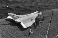 VF-74 F4D-1 Skyray BuNo 139109 (skyhawkpc) Tags: airplane aircraft aviation navy douglas naval usnavy usn 1960 ussintrepid af105 139109 f4d1 cva11 vf74bedevilers