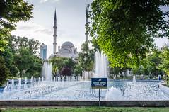 Konya - Haci Veys Zade Mosque From Cultural Park Sultanah Caddesi 2 (Le Monde1) Tags: park lake turkey pond nikon islam mosque sultan turkish dervish anatolia moslem whirlingdervishes culturalpark kltr sinanpasha d7000 lemonde1 hasanpasha haciveyszade sultanahcaddesi fatmahtun
