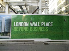 Guess that's another way of saying pleasure (Simply Lewis) Tags: london mobile construction thecity hoarding moorgate cityoflondon oneplusone