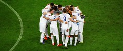 England players huddle ahead of kick-off against France (Ben Sutherland) Tags: france wembley lamarseillaise englandvfrance liberteegalitefraternite frenchteam frenchfootball frenchfootballteam frenchfootballfederation francefootballteam parisattacks francefootballfederation