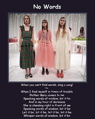 let it be (Delphinidea) Tags: girls words sad song quotation pinkdress sadface letitbe longdress