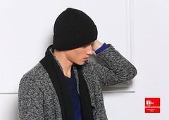 HW-0009 – หมวกแฟชั่นกันหนาวผู้ชายสไตล์ฮิปฮอปใช้ไหมพรมเนื้อหนาภายในบุขนวูลนุ่มเนียนใส่ติดลบได้