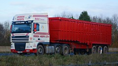 SJ13 MBO (panmanstan) Tags: truck wagon motorway yorkshire transport lorry commercial newport vehicle freight bulk m62 daf xf haulage hgv