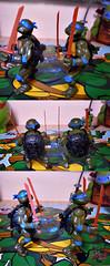 """Nickelodeon """"HISTORY OF TEENAGE MUTANT NINJA TURTLES"""" FEATURING LEONARDO -  ORIGINAL '88 LEONARDO iv / ..with Vintage '88 release (( 2015 )) (tOkKa) Tags: nickelodeon tmnt 1988 teenagemutantninjaturtles historyofteenagemutantninjaturtlesfeaturingleonardo toys figures leonardo 2015 displaystand playmatestoys toysrus toysrusexclusive moviestartmnt toontmnt ninjaturtlesthenextmutation 4kidstmnt tmnt2003 tmntmovie4 paramountsteenagemutantninjaturtles varnerstudios 2007 1992 1993 2006 2005 2014 2012 tmntfastforward paramountteenagemutantninjaturtles tmnt2014movie eastmanandlairdsteenagemutantninjaturtles comic toonleo turtlemilkstudios davearshawsky imagesrctokkaterrible2zcom"""
