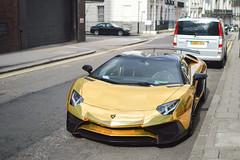 SV Gold (Beyond Speed) Tags: lamborghini aventador sv superveloce roadster supercar supercars automotive automobili nikon v12 gold london worldcars