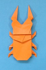 Stag beetle (takeuchi2) Tags: origami stag beetle