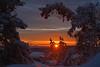 Ein Wintertraum (Sandsteiner) Tags: sunrise sonnenaufgang winter winterlandschaft frost schnee gohrisch elbsandsteingebirge sandsteiner wow