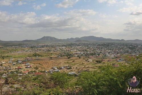 View of Borama from the Tank (kayd) mountain