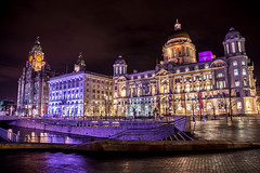 'Three Graces' (shabbagaz) Tags: great britain port liverpool three graces united kingdom 2016 a65 alpha city cunard dark december docks england lancashire lights liver merseyside night north shabbagaz sony uk waterfront west greatbritain portofliverpool threegraces unitedkingdom
