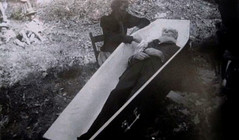 In Repose (~ Lone Wadi ~) Tags: coffin casket death corpse outdoors retro unknown deceased dead postmortem