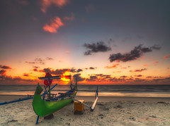 belitung island (sandilesmana28) Tags: sunrise belitung island tree cloud red sand boat slow speed reverse nd filter singhray