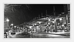 City-Place (friedrichfrank1966) Tags: stadt nacht night rahmen bw einfarbig light black architektur