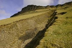 Benwiskin (flxnn) Tags: mountain mountains hills sligo limestone grass grassland rock landscape rural erosion ireland paysages mountainside outdoor landslide