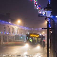 Easterton X72-5669 (he4dgirl) Tags: christmas melksham sarahjdow wiltshire bus busstop christmastree creativeportraitphotography dawn earlymorning headgirlphotographycom mistymorning night