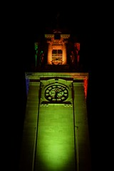 South Shields Town Hall (Breeze of the Dene) Tags: south shields town hall building lights green orange clock time nikon df 50mm f18 tyne wear england