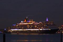 Queen Elizabeth Departs (clare.blandford) Tags: fireworks southamptonwater solent southanptondocks hampshire cruise liner queen elizabeth