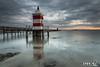 ZF2016_17956 (aa_zf717) Tags: lignano sabbiadoro faro rosso lighthouse friuliveneziagiulia pontile nuvole pier landscape paesaggio alba sunrise riflesso reflection lee filters leefilters seascape canonef163528lii