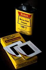Kodak Vintage (Jackal1) Tags: nikon kodak tin slides yellow oldschool words vintage