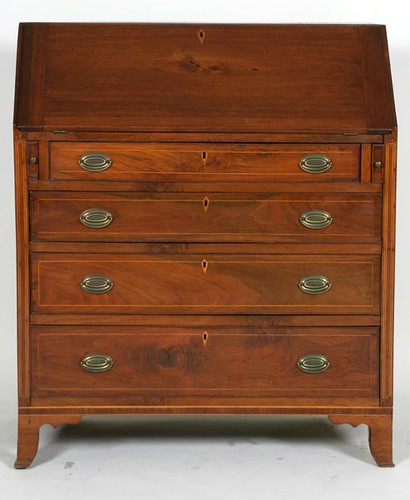 WALNUT Fine Inlaid Slant Front Desk ($616.00)