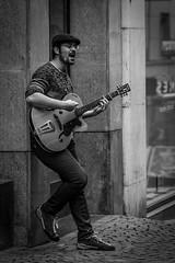 street musician (quietusleo) Tags: streetphotography people performer blackandwhite black white monochrome portrait lausanne switzerland