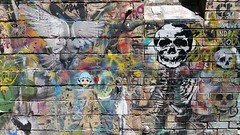 Blender Lane, Melbourne... (colourourcity) Tags: streetartaustralia streetart streetartnow graffiti graffitimelbourne melbournestreetart melbournegraffiti melbourne burncity awesome colourourcity colourourcitymelbourne blender blenderlane darkhorse stencil stencils stencilart history caper capererg erg manofdarkness vexta