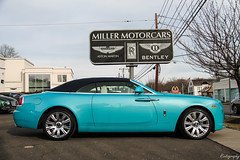 Tiffany Blue Rolls-Royce Dawn [EXPLORED] (Rivitography) Tags: rollsroyce dawn blue exotic car luxury convertible cabriolet british greenwich connecticut 2016 canon rebel t3 adobe lightroom rivitography